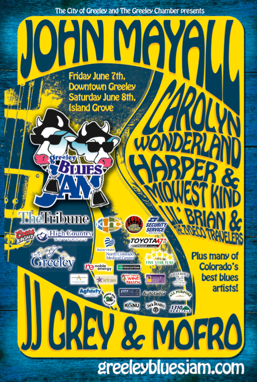 Greeley Blues Jam 2013 poster